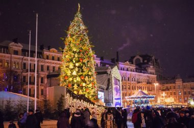 New Year at Sophia Square in Kyiv, Ukraine