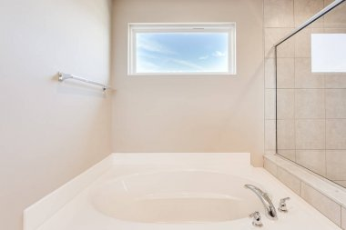 soaking tub has been installed into your updated bathroom