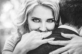 Photo Happy  couple hugs close up