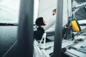 Fotografie Romantický pár na jachtě