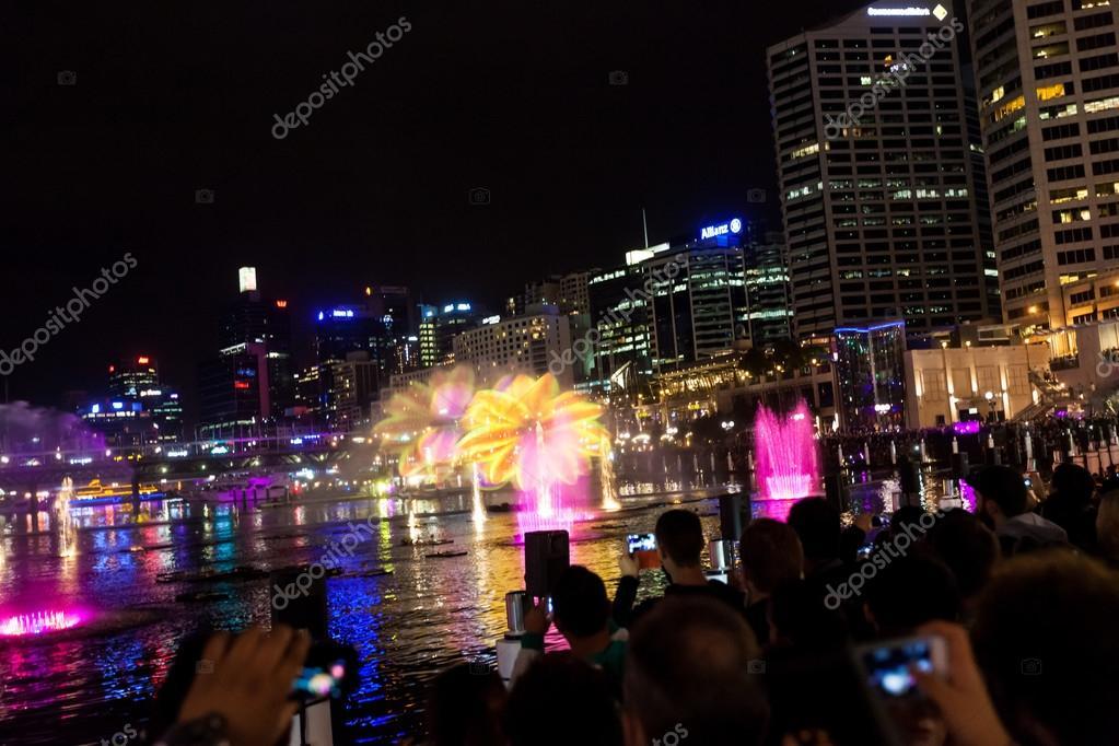 Darling Harbour during Sydney vivid festival