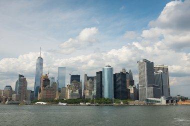 Manhattan Island from the ocean
