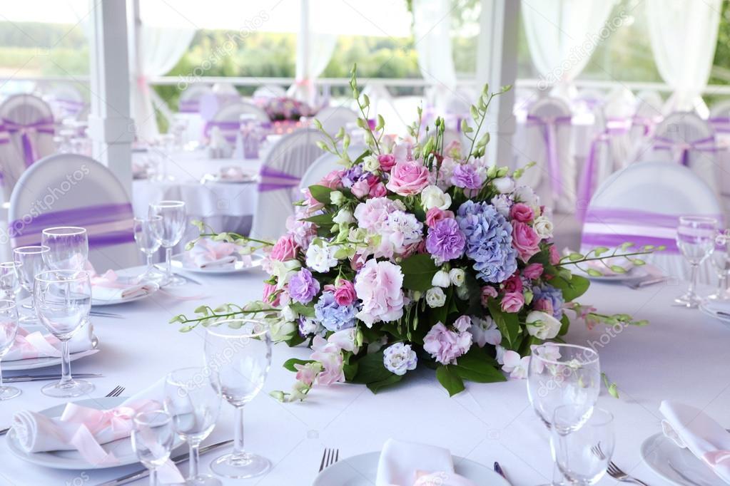 Hochzeit Tisch Dekoration Blumen Stockfoto Ozina 61386465