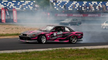 Moscow, Russia - 05.29.2021: Festival DRIFT EXPO TRACK MODE at ADM Raceway near Moscow