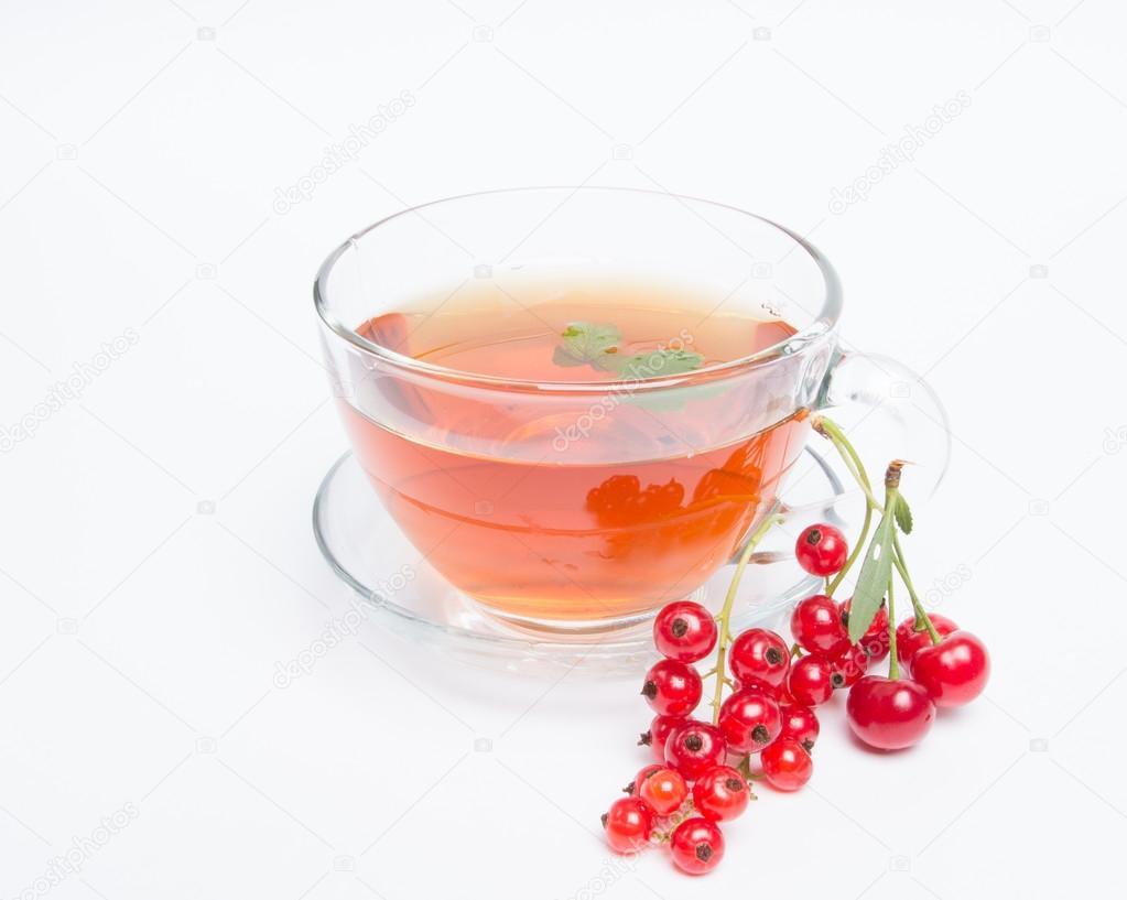 чай с красной смородиной