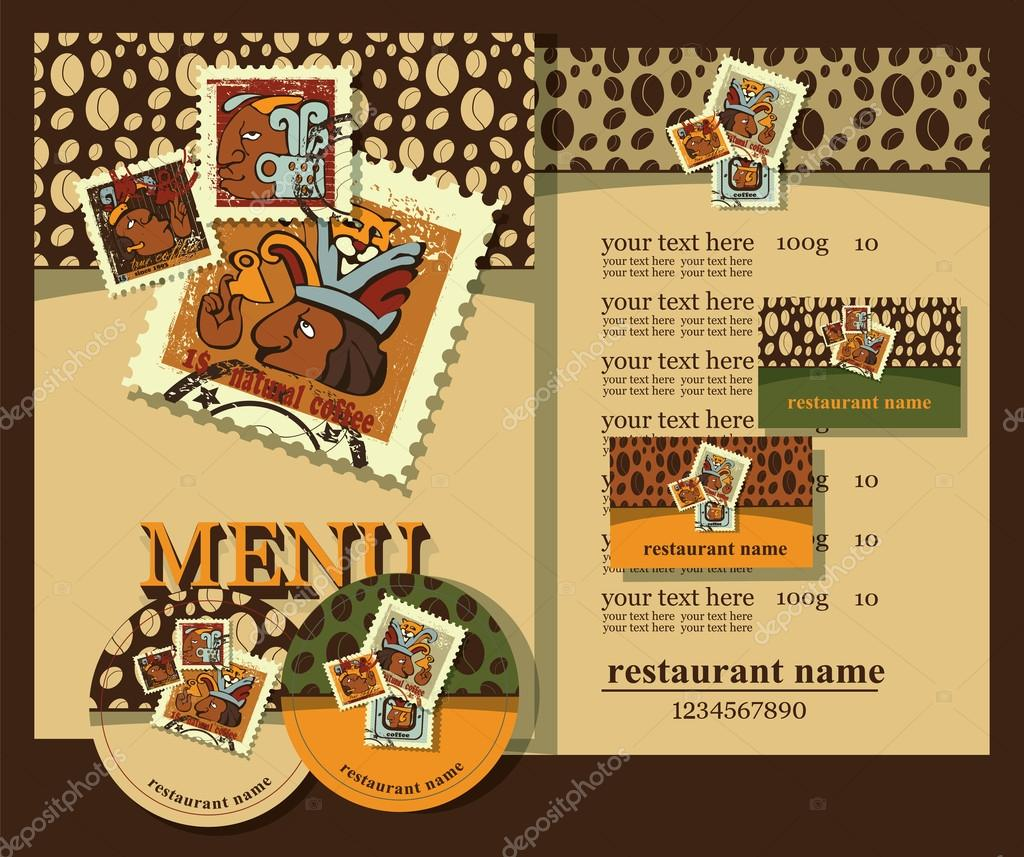 Coffee menu set design.