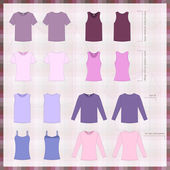 Set of mens and womens clothes