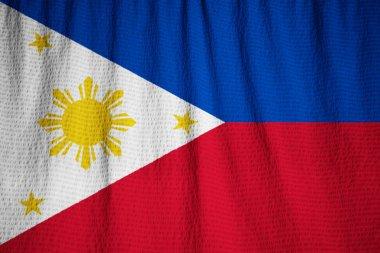 Closeup of Ruffled Philippines Flag, Philippines Flag