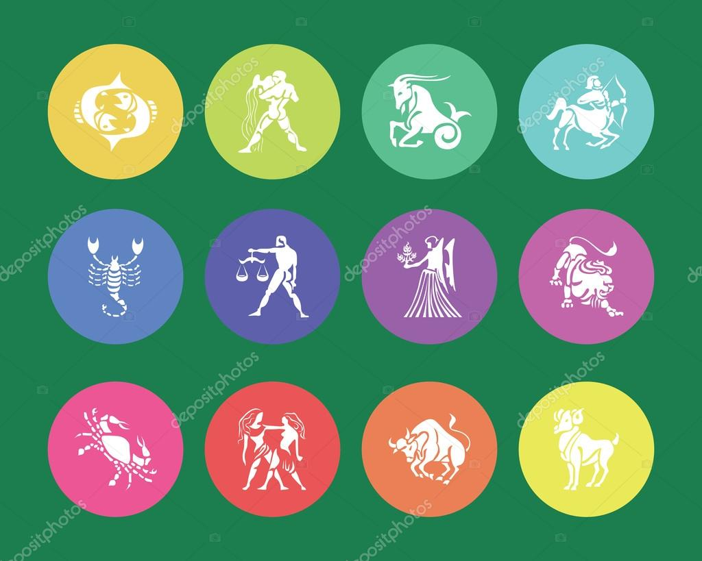 Zodiac signs and symbols — Stock Vector © Shaadjutt36 #55217335