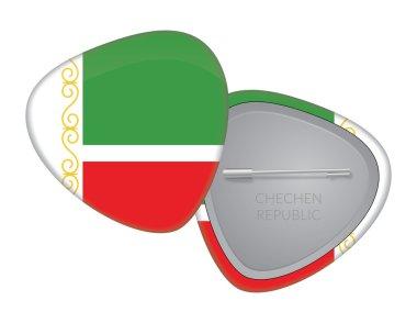 Vector Flag Badge Series - Chechen Republic