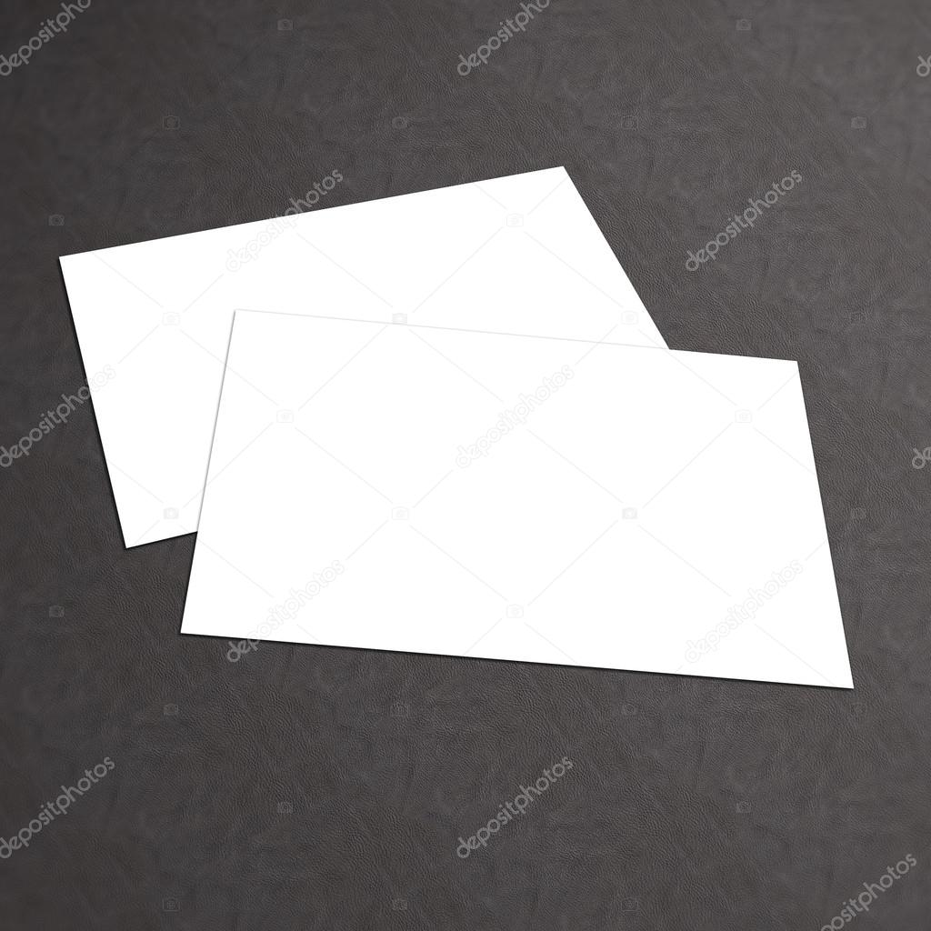 Blank white business card on a textured background — Stock Photo ...