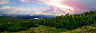 Beautiful panorama of mountains