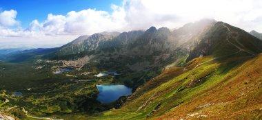Beauty panorama from polish Hi Mountains, Tatra stock vector