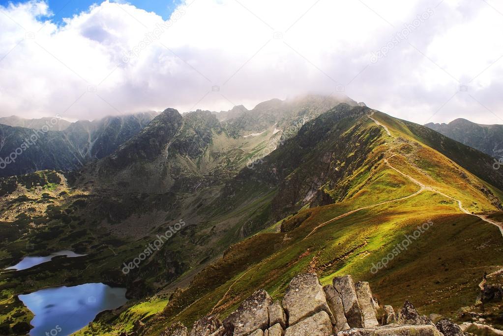 View to Liliowe, near Świnica, Tatra Mountains