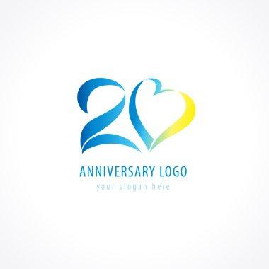 20 anniversary logo love