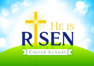 He is risen, vector card.