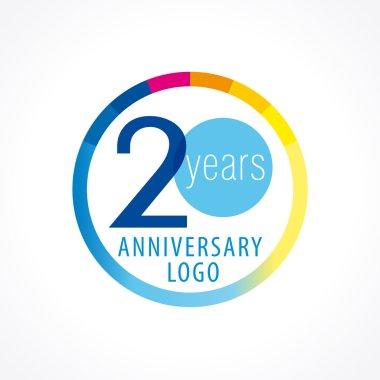 20 anniversary circle logo