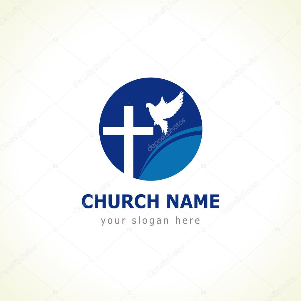 Dove cross church logo stock vector koltukovalek 72308007 christian church vector logo blue colored circle crucifix white flying dove wave religious educational symbol vector by koltukovalek altavistaventures Choice Image