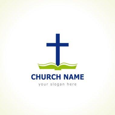 Bible cross church logo