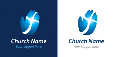 Cross on the hand church logo
