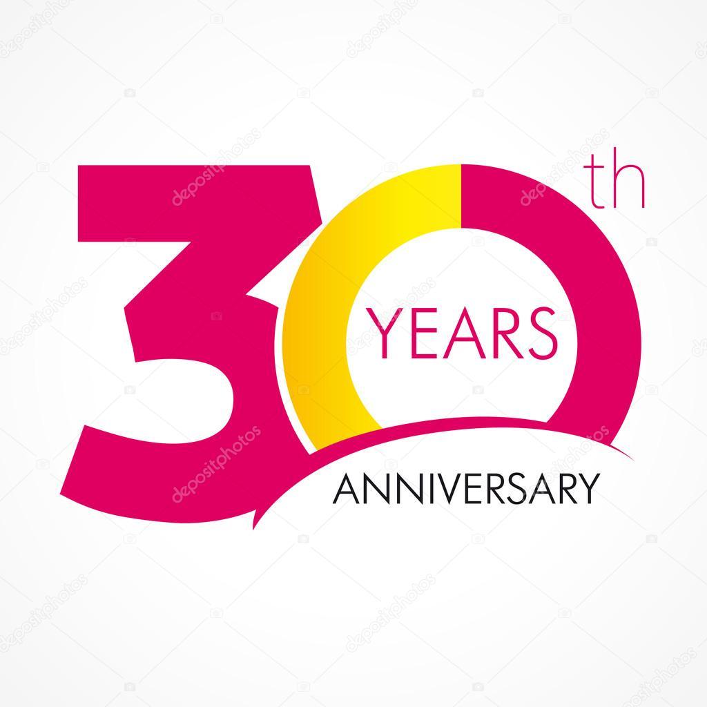 logo aniversario 30 años — Archivo Imágenes Vectoriales ...