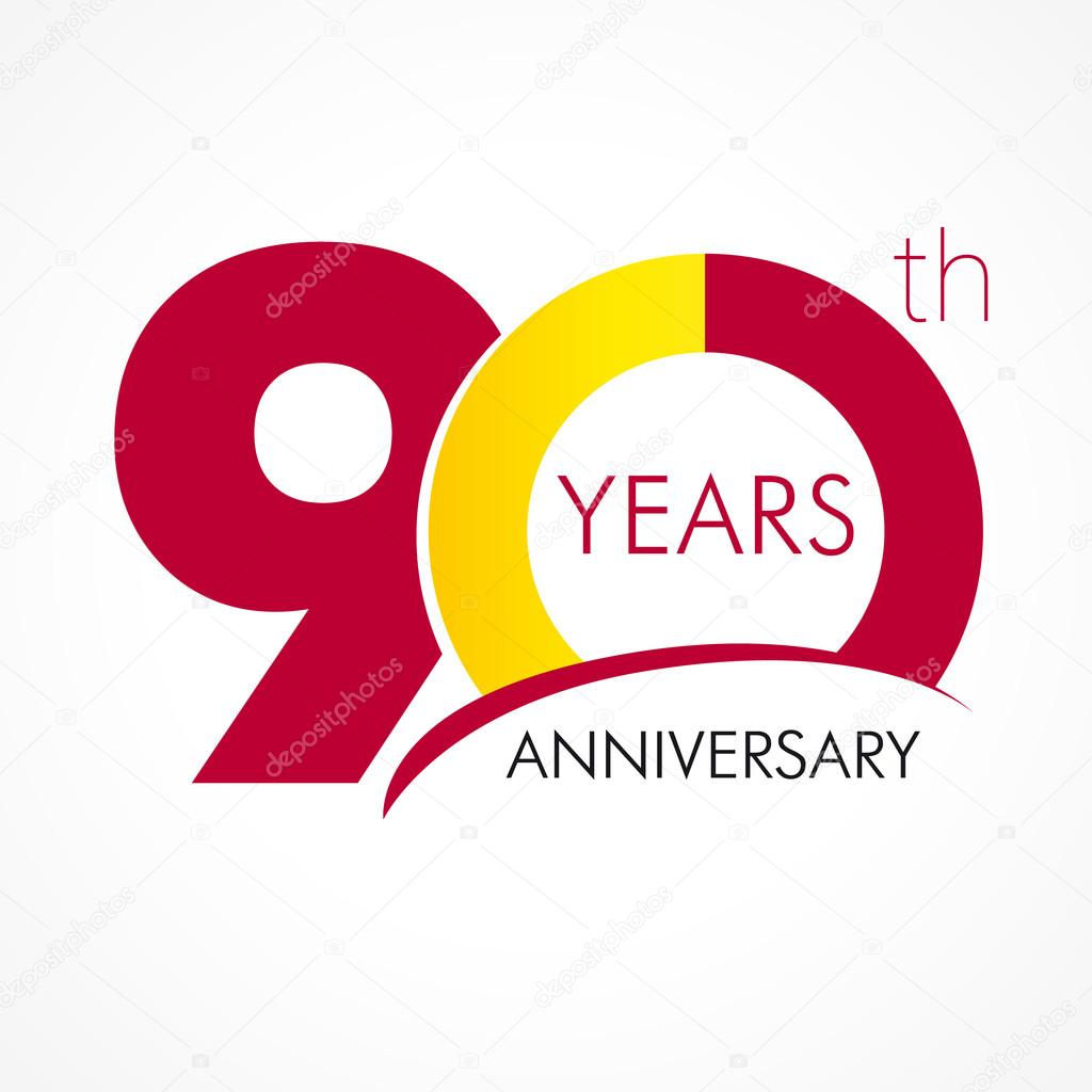 Download - 90 years anniversary logo — Stock Illustration #75199659
