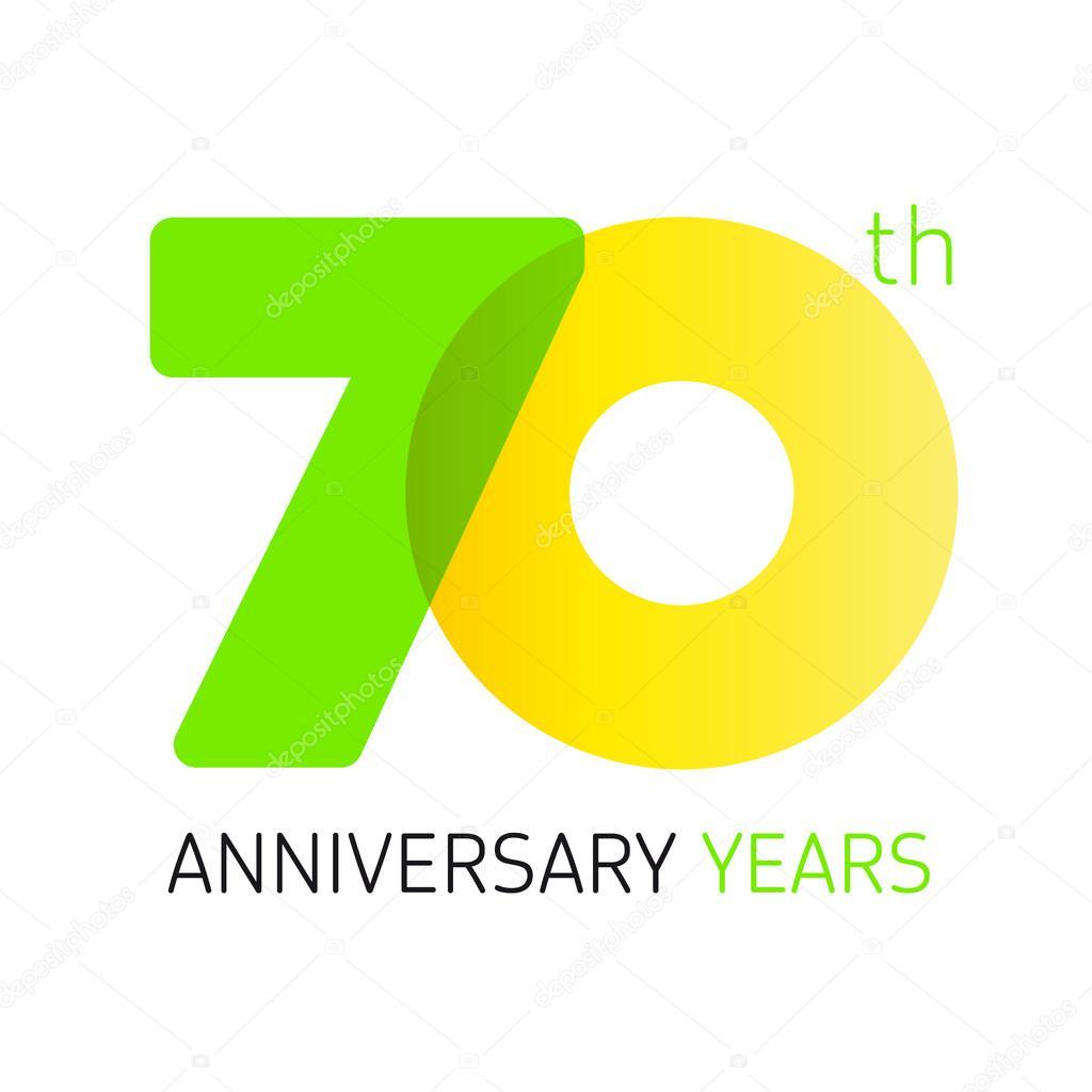 Depositphotos Stock Illustration 70 Anniversary Years Logo Vector Th Year