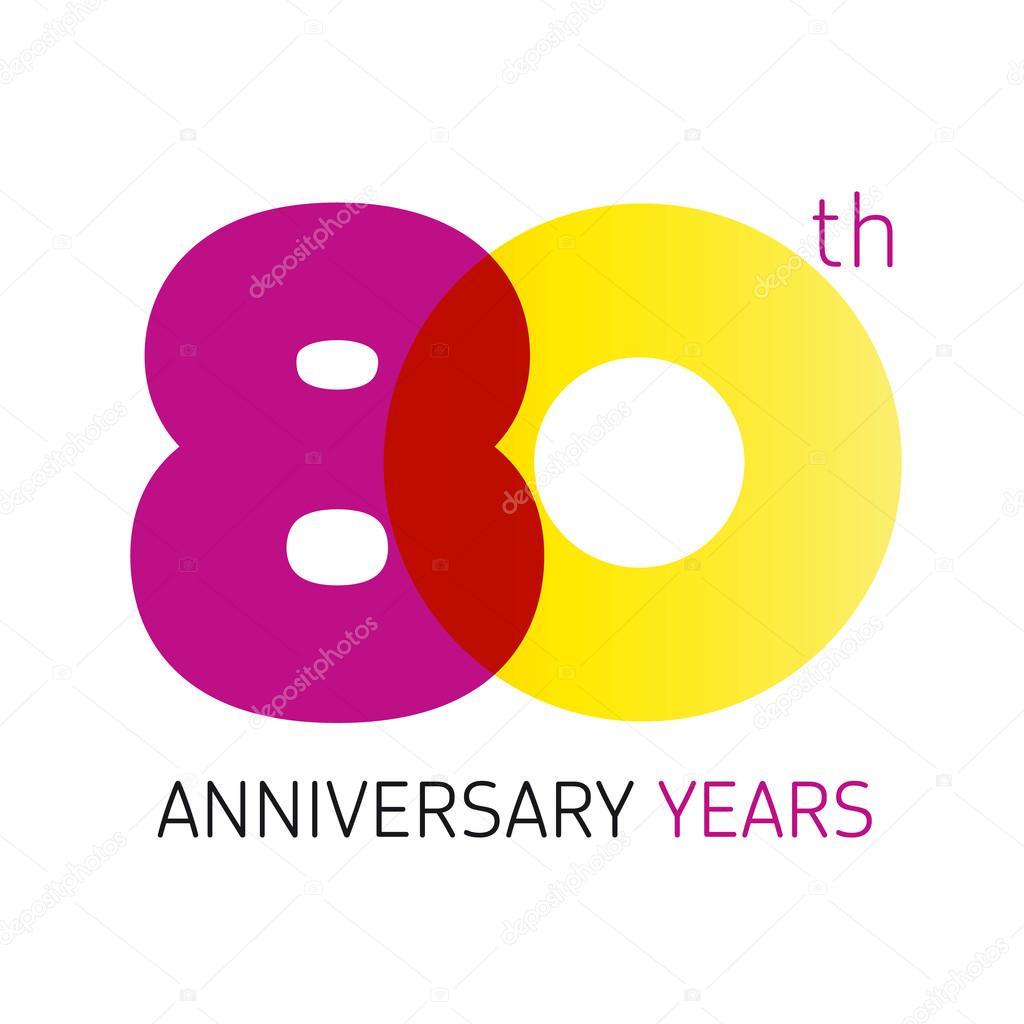 Depositphotos Stock Illustration 80 Anniversary Years Logo Vector Th Year