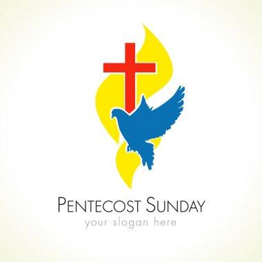 Pentecost sunday dove logo
