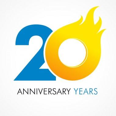 20 anniversary flame logo