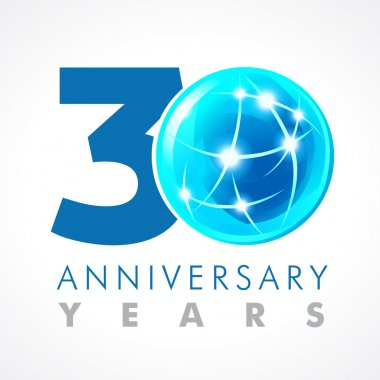 30 anniversary connecting logo