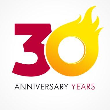 30 anniversary flame logo