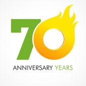 70 Jahre Flammenlogo