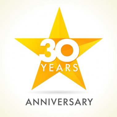 30 anniversary star logo