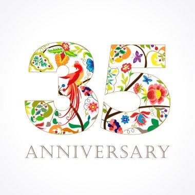 35 anniversary ethnic numbers.