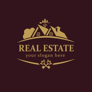 Real estate logo key