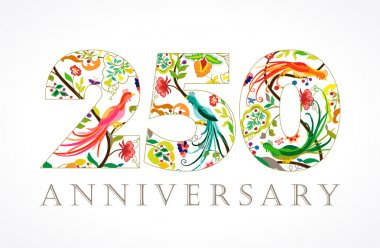 250 anniversary ethnic numbers.
