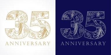 35 anniversary vintage logo.