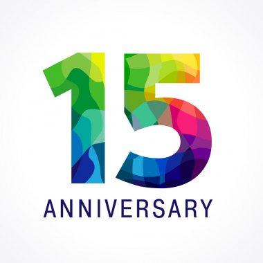 15 anniversary color logo.