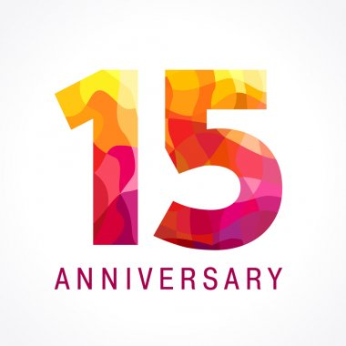 15 anniversary red colored logo.