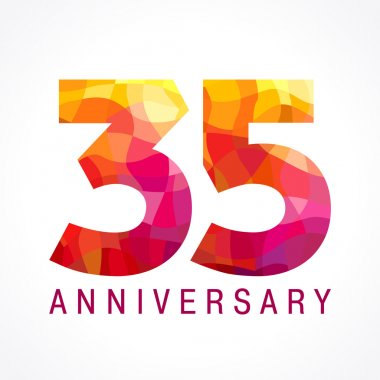 35 anniversary red colored logo.