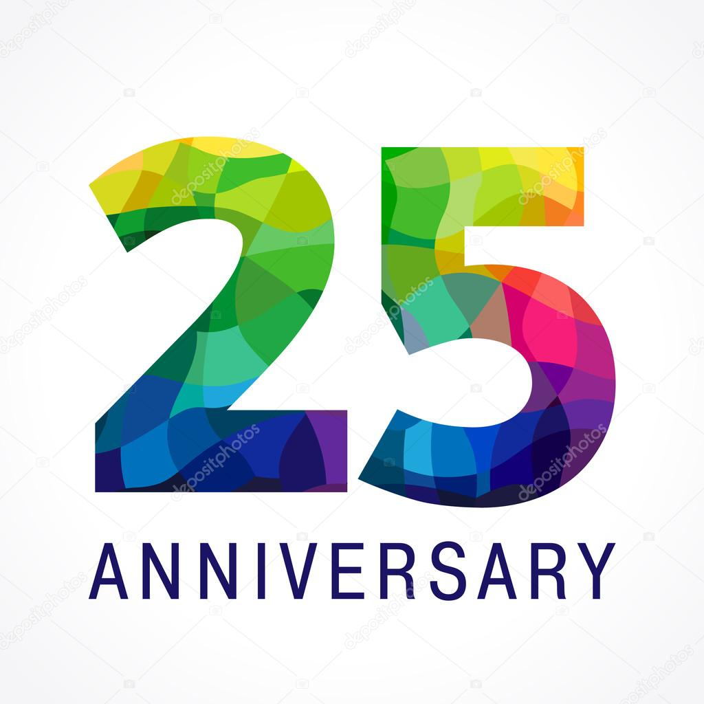 25 anniversary color logo. — Stock Vector © Koltukov_Alek ...