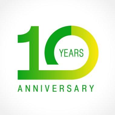 10 anniversary classic logo.