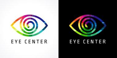 Eye clinic color logo.