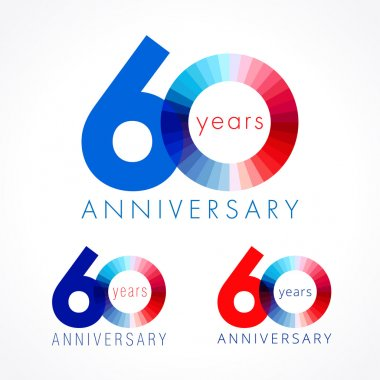 60 anniversary red and blue logo.