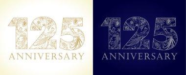 125 anniversary vintage logo.
