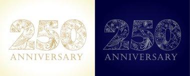 250 anniversary vintage logo.
