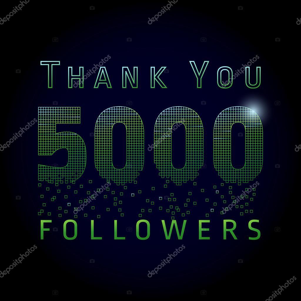 Thank you 5000 followers numbers. — Stock Vector © Koltukov_Alek ...