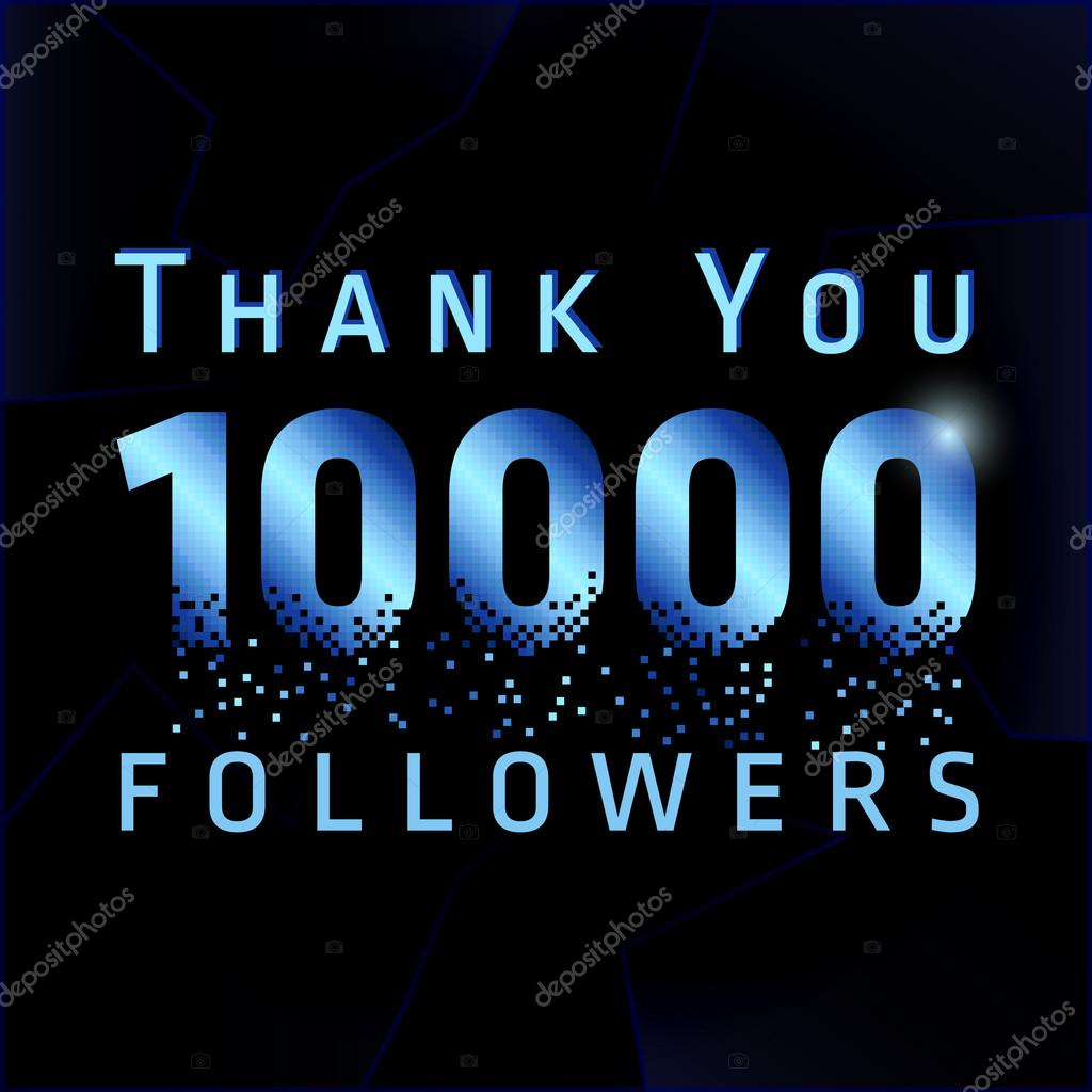Thank you 10000 followers numbers. — Stock Vector