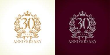30 anniversary luxury logo.